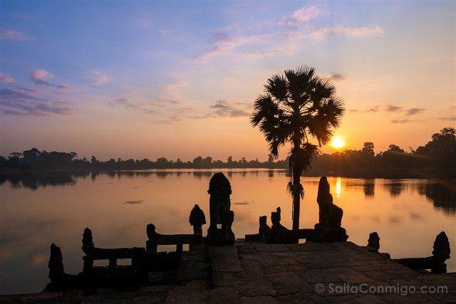 Templos de Angkor Sras Srang Amanecer