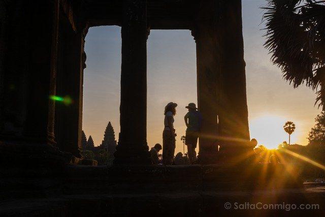 Templos de Angkor Wat Amanecer Columnas