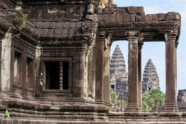 Templos de Angkor Wat Columnas