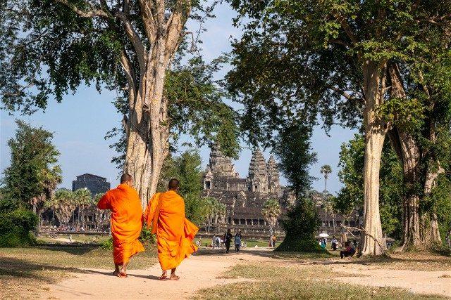 Templos de Angkor Wat Monjes