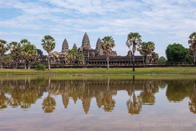 Templos de Angkor Wat Reflejo