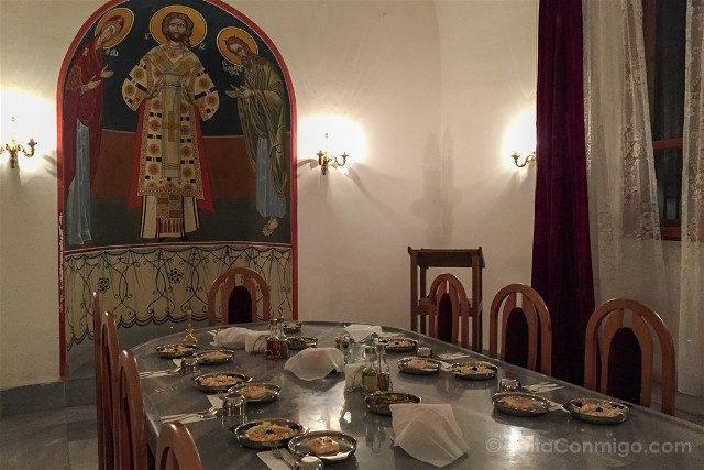 Monasterio de Bachkovo Refectorio Cena