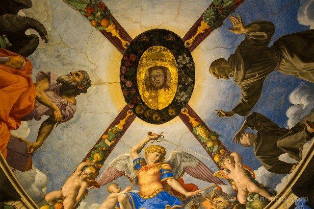 Palazzo Vecchio Florencia Capila Leonor Toledo Techo Bronzino
