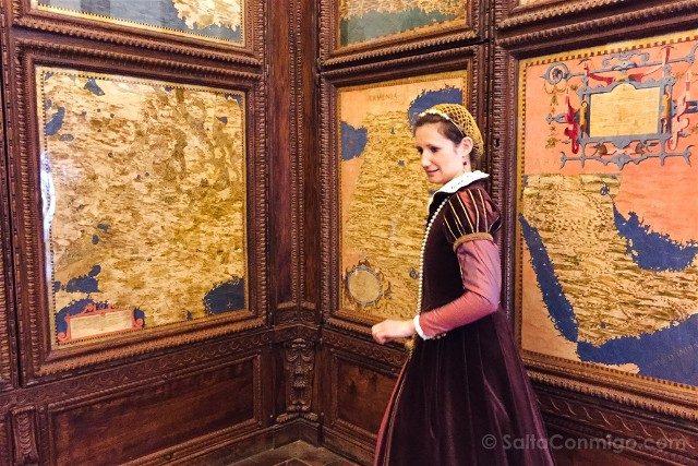 Palazzo Vecchio Florencia Sala Mapas Visita