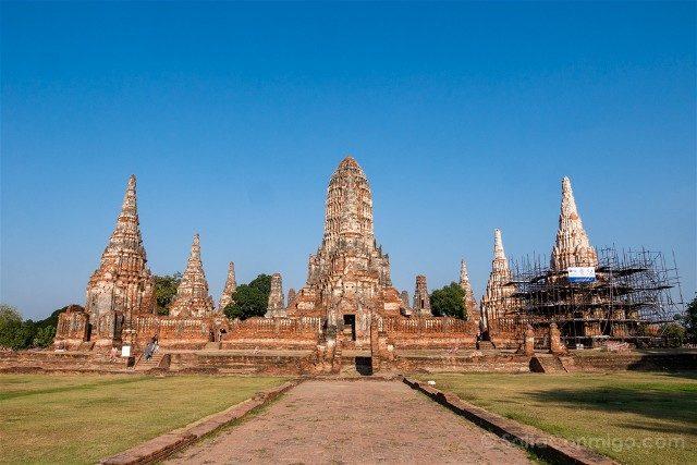 Que Ver en Ayutthaya Wat Chai Watthanaram Panorama