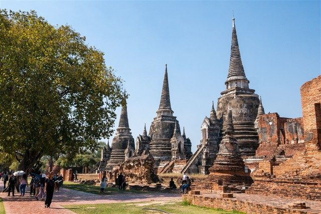 Que-Ver-en-Ayutthaya Wat Phra Sri Sanphet Chedis Dia
