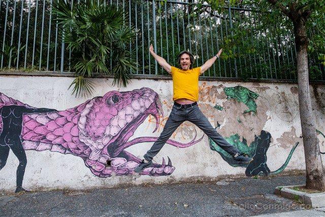 Roma Alternativa Quadraro Grafiti Salto