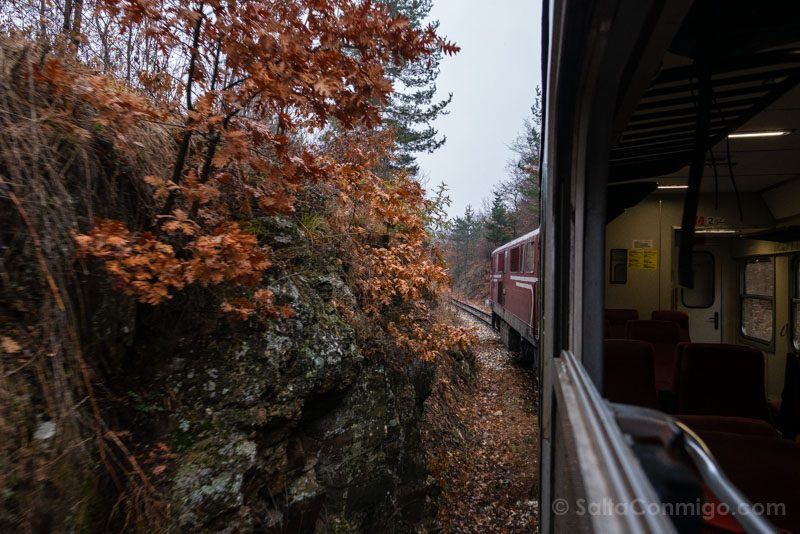 Tren a Bansko Paisaje Rocas