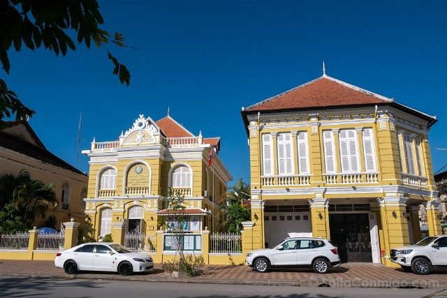 Viajar a Camboya Battambang Casas Francesas