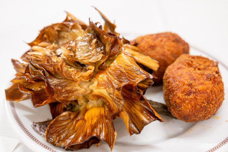 Comida Tipica Centro Italia Lazio Alcachofa