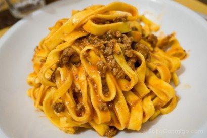 Comida Tipica Norte Italia Emilia Romagna Tagliatelle Ragu