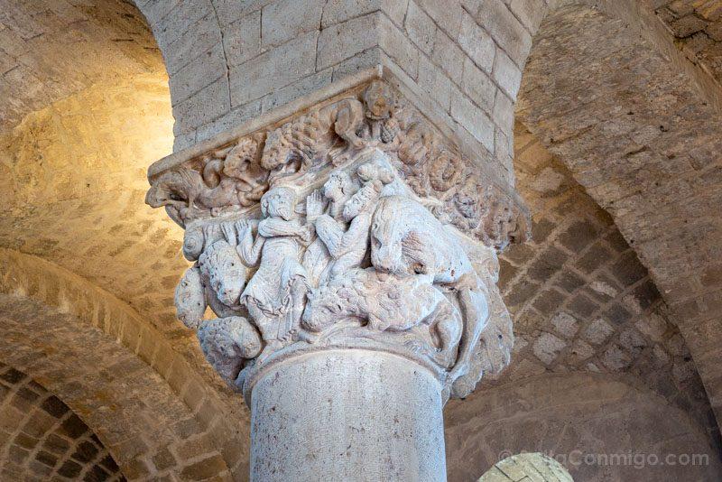 Que Ver en Valle Orcia Abadia Sant Antimo Capitel