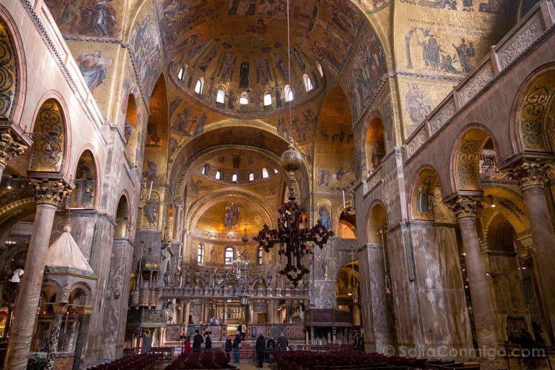 Que Ver en Venecia Basilica San Marcos Interior