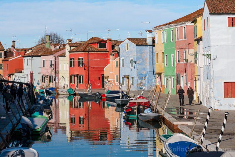 Que Ver en Venecia Burano Casas Colores