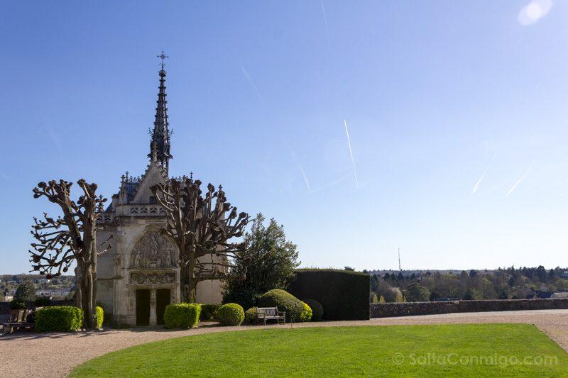 Ruta Castillos Loira Amboise Tumba Leonardo da Vinci