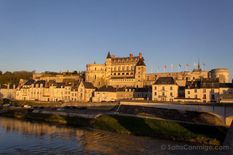 Ruta Castillos Loira Amboise Vista Atardecer