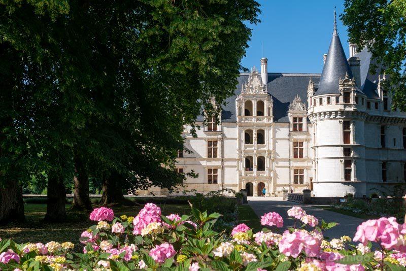 Ruta Castillos Loira Azay-le-Rideau Exterior Acceso
