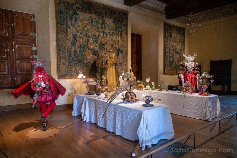 Ruta Castillos Loira Azay-le-Rideau Sala Exposicion