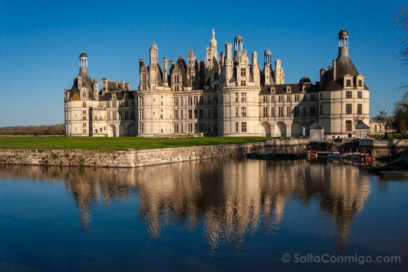 Ruta Castillos Loira Chambord Atardecer
