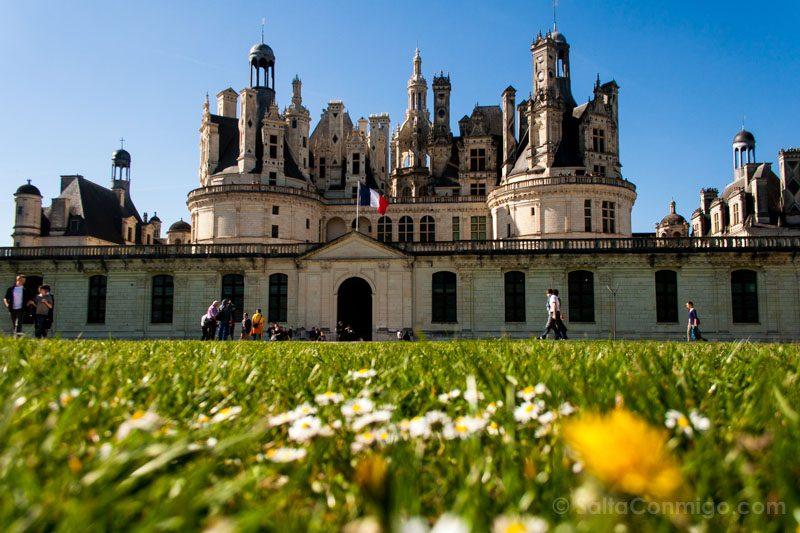 Ruta Castillos Loira Chambord Fachada Delante