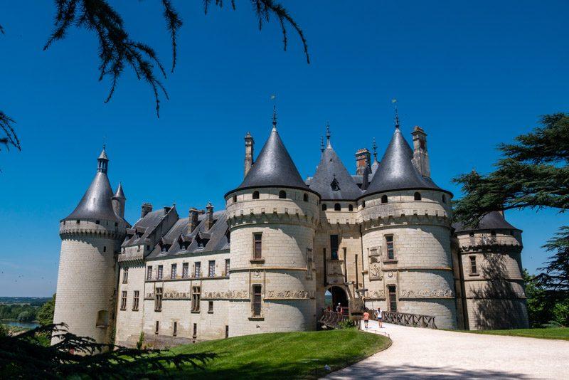 La fachada del castillo de Chaumont-sur-Loire