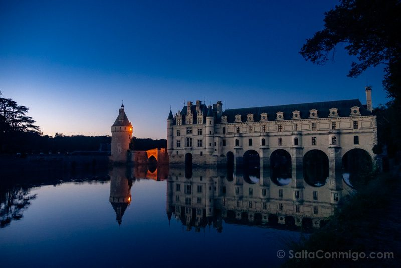 Ruta Castillos Loira Chenonceau Mirador Atardecer