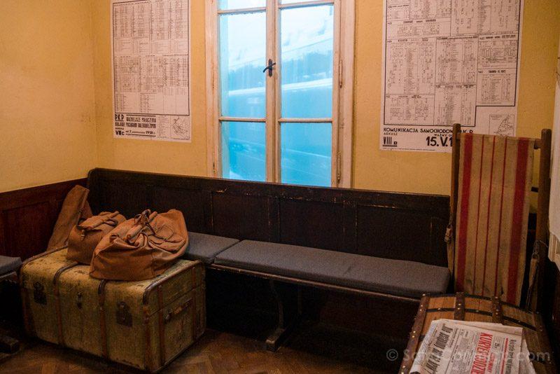 Fabrica de Schindler Cracovia Sala Espera Tren
