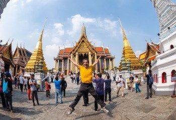 Gran Palacio de Bangkok Wat Phra Kaew Vista Principal Salto