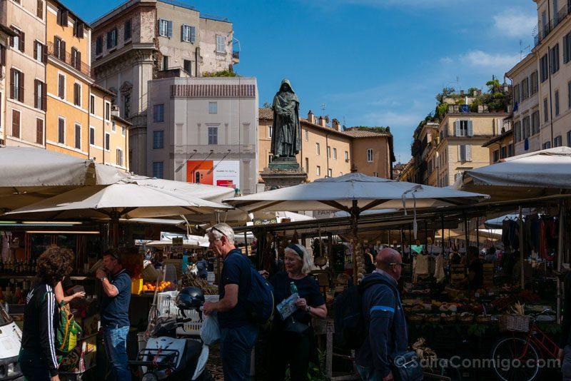 Plazas de Roma Piazza Campo Fiori