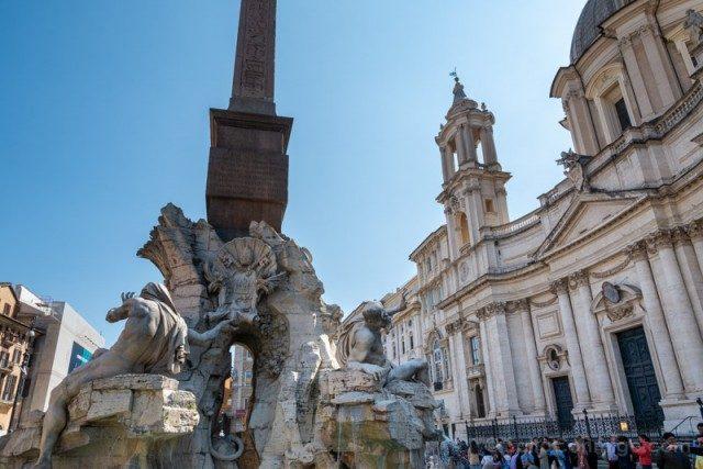 Plazas de Roma Piazza Navona Iglesia Santa Ines