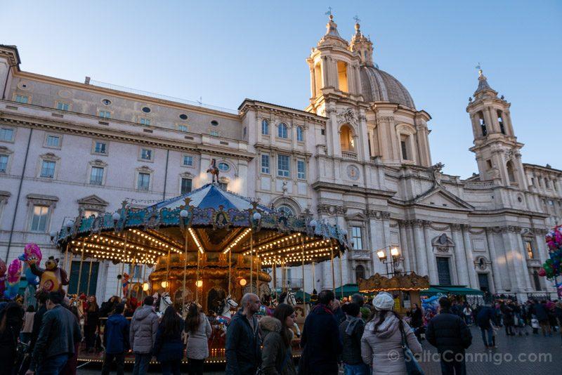 Plazas de Roma Piazza Navona Navidad