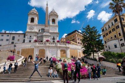 Plazas de Roma Piazza Spagna Salto