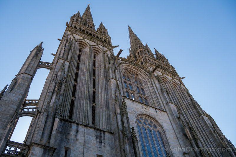 Que Visitar En Quimper Bretana Catedral Fachada