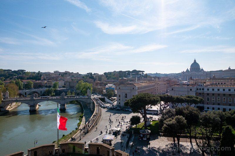 Miradores de Roma Castel Sant Angelo Logia