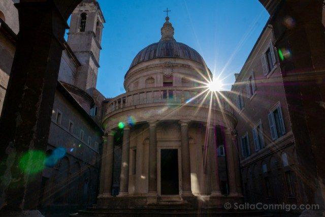 Miradores de Roma Gianicolo Tempietto Bramante