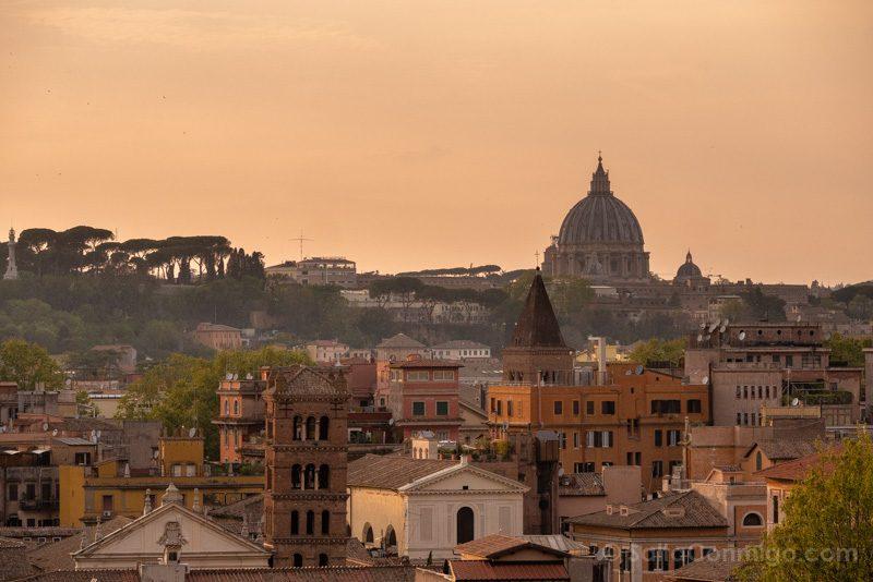 Miradores de Roma Jardin Naranjos Atardecer
