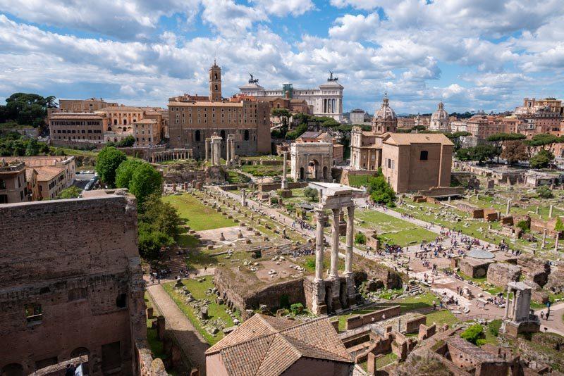 Miradores de Roma Palatino Foro Romano