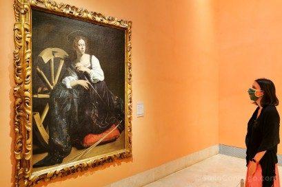 Museo Nacional Thyssen-Bornemisza Madrid Caravaggio Santa Catalina