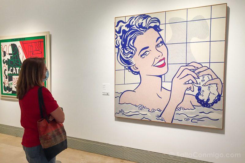 Museo Nacional Thyssen-Bornemisza Madrid Lichtenstein Mujer Bano