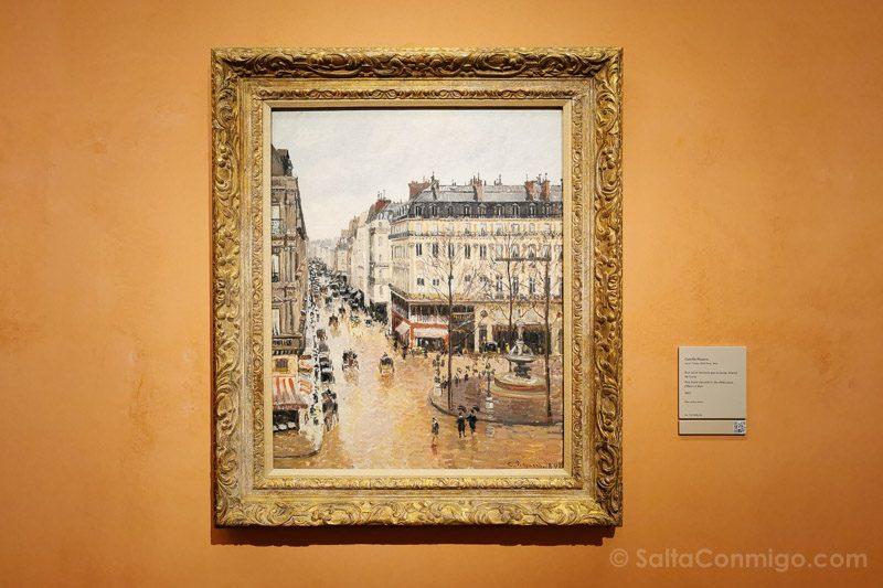 Museo Nacional Thyssen-Bornemisza Madrid Pissarro Rue Saint-Honore