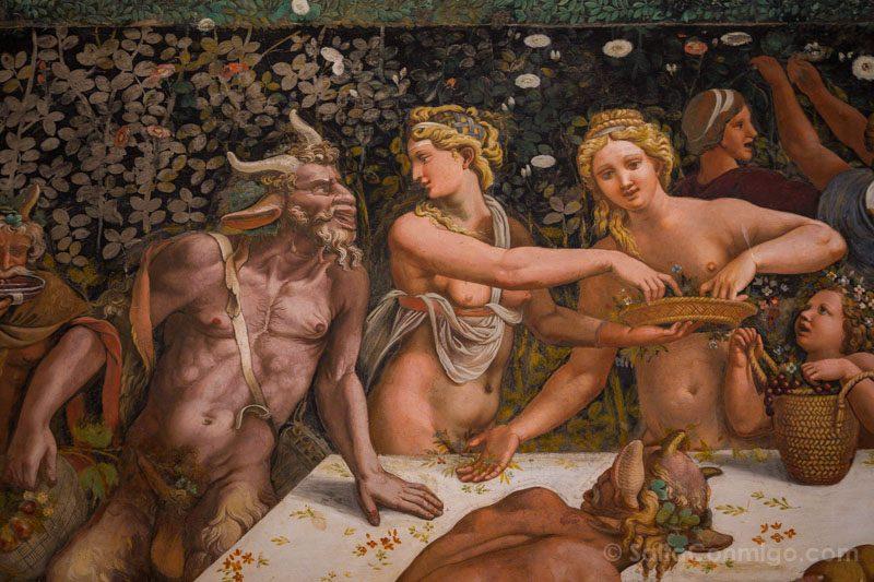 Palacio Del Te Palazzo Mantua Camera Amore Psiche Dertalle Fauno