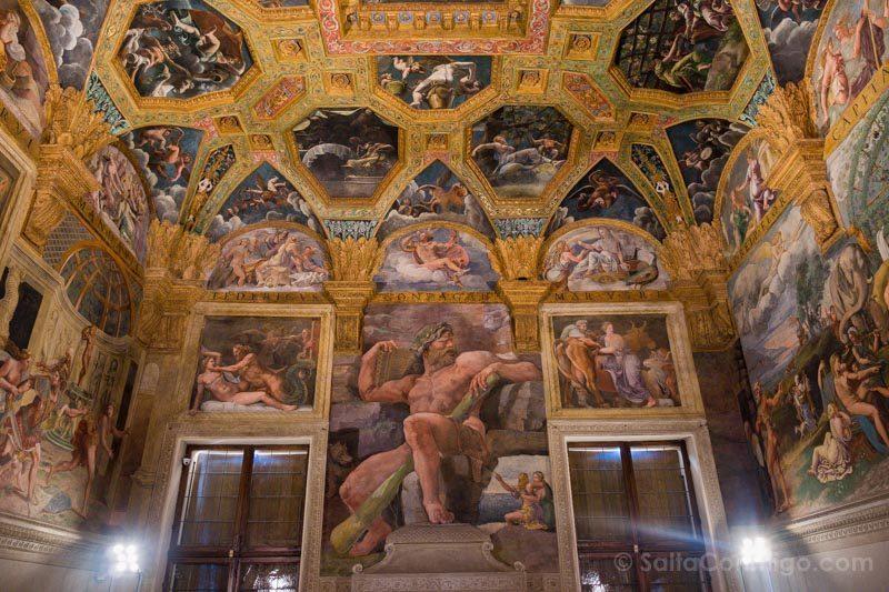 Palacio Del Te Palazzo Mantua Camera Amore Psiche Gigante