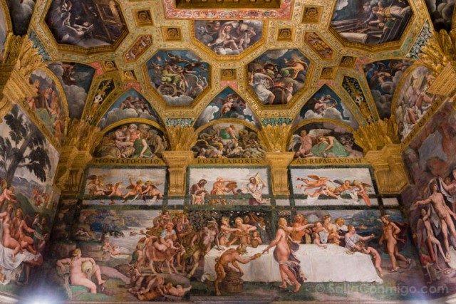Palacio Del Te Palazzo Mantua Camera Amore Psiche Ojo Pez