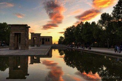 Parques Madrid Parque Oeste Templo Debod Atardecer