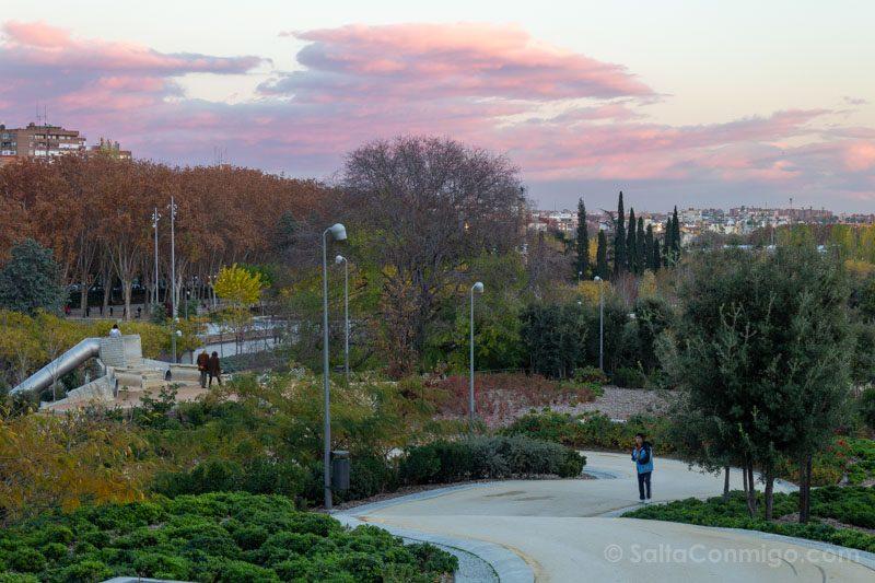 Parques Madrid Rio Atardecer