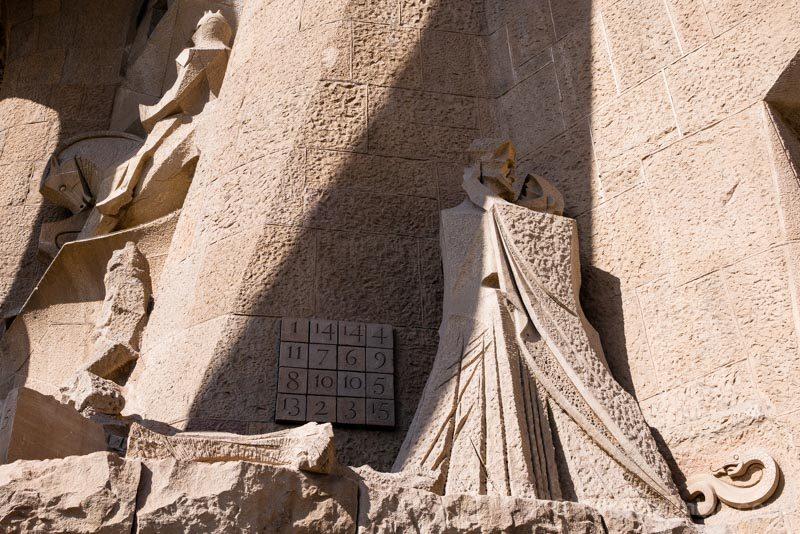 Sagrada Familia Barcelona Fachada Pasion Sudoku