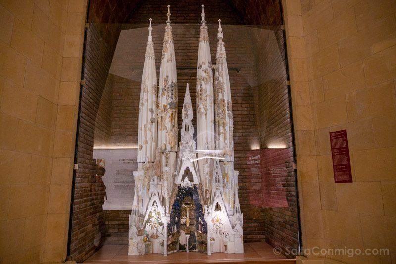 Sagrada Familia Barcelona Maqueta Fachada