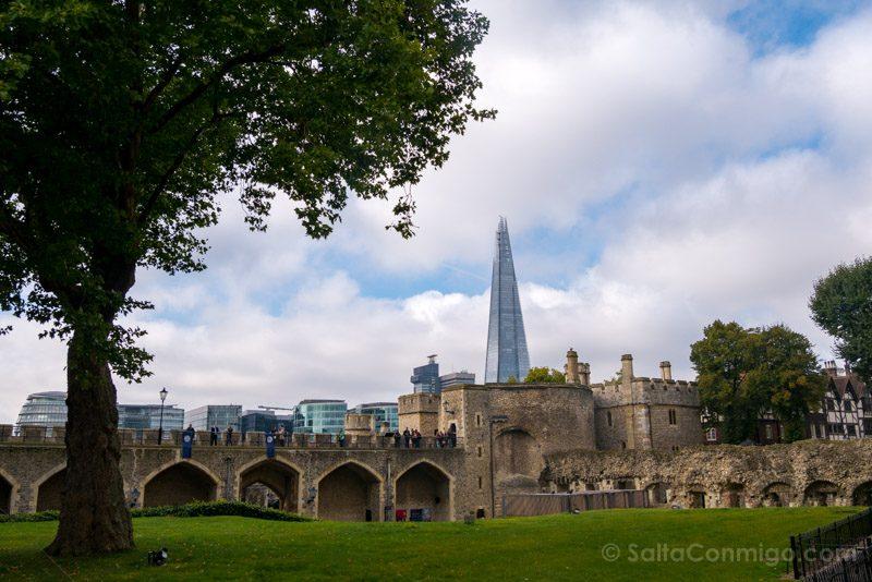 Torre De Londres MurallaThe Shard