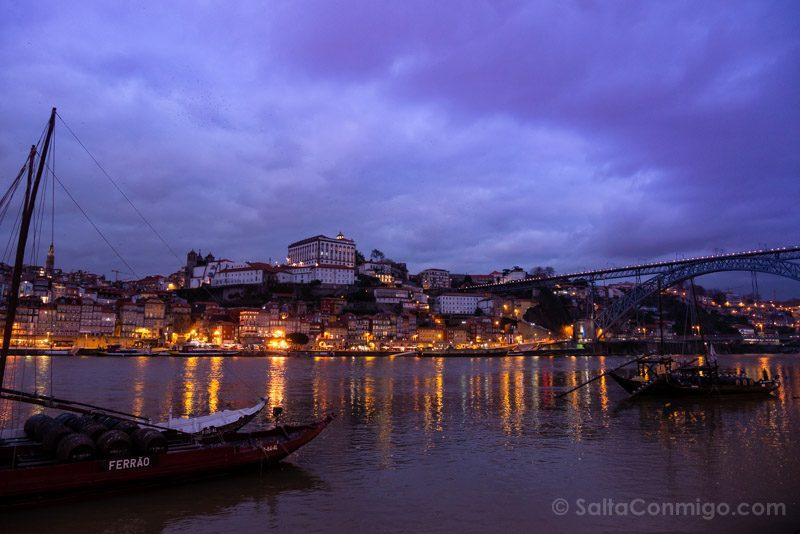 Bodegas Oporto Puente Luis I Gaia Noche