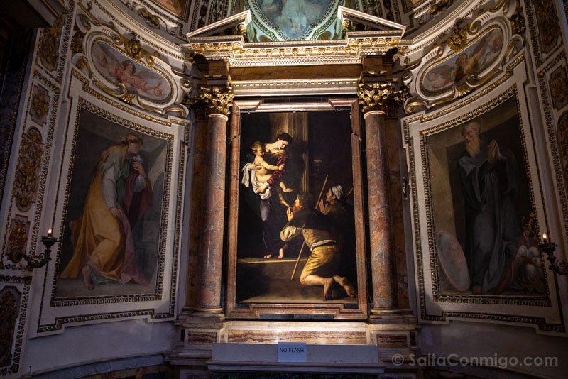 Iglesias de Roma Basilica San Agustin Caravaggio